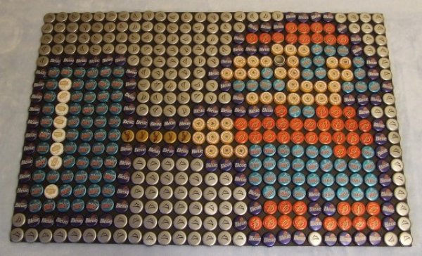 Super Mario Bottle Cap Art
