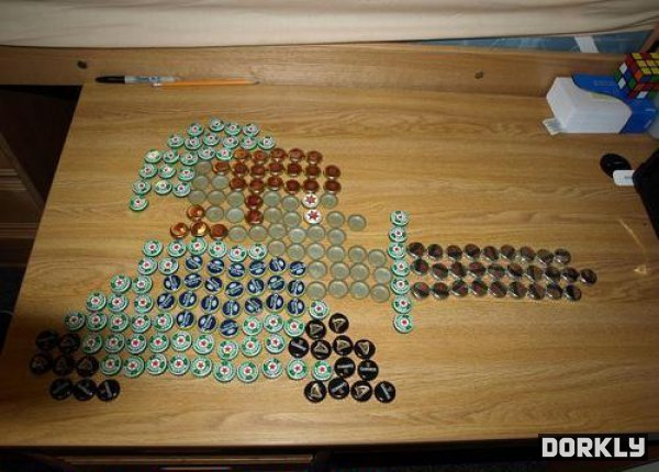 Zelda Link Bottle Cap Art