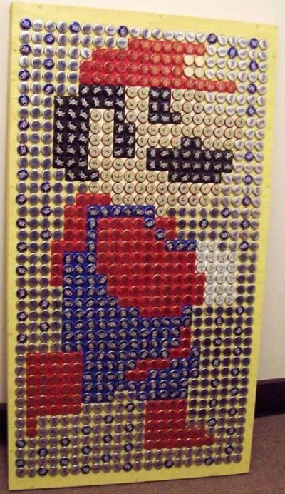 Super Mario Beer Cap Art
