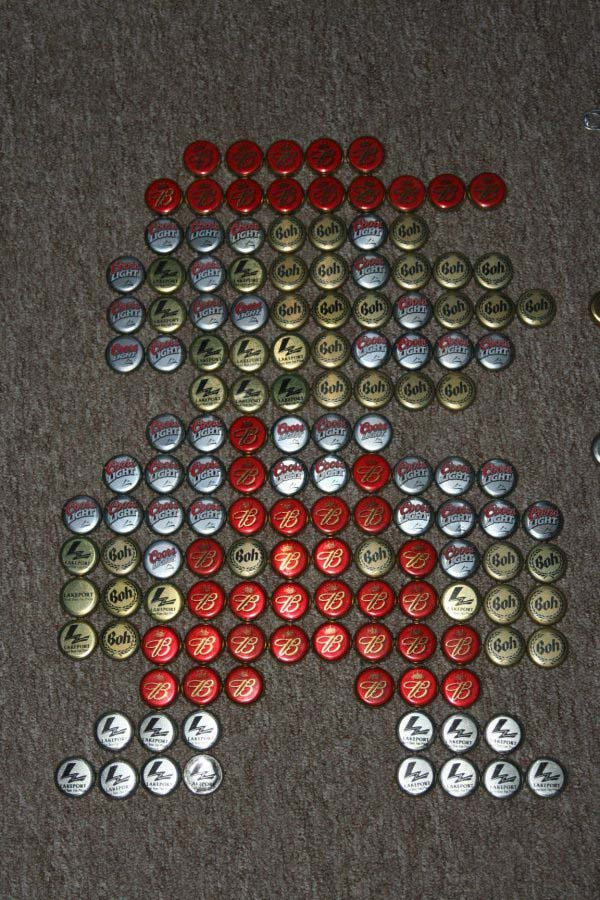 Super Mario Beer Cap Artwork