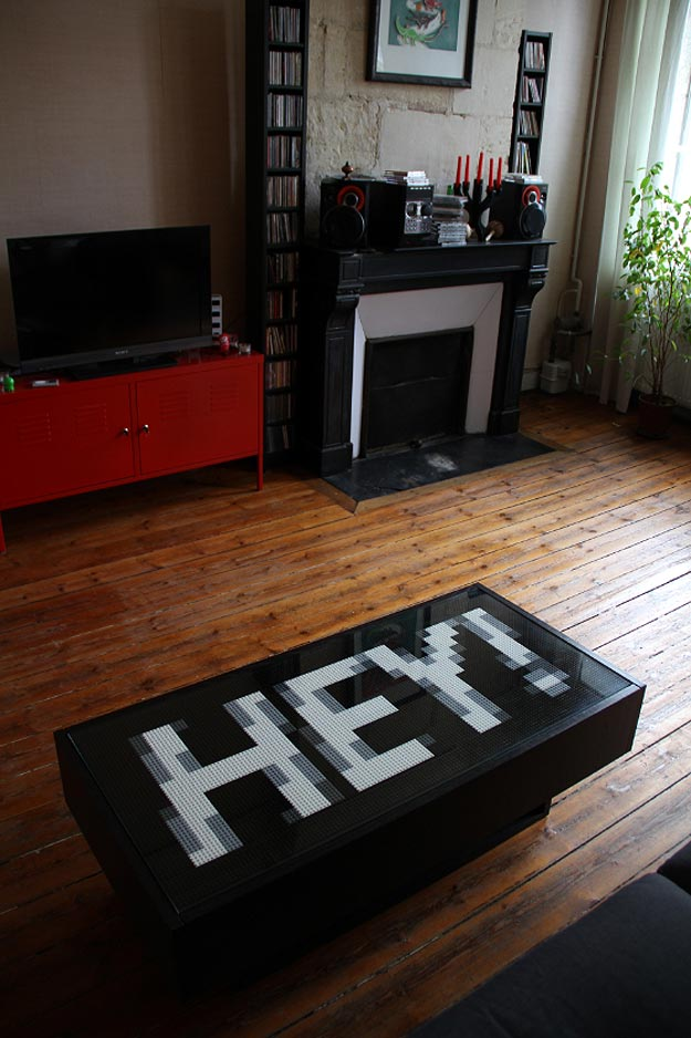 Geeky Lego Pixel Furniture Project
