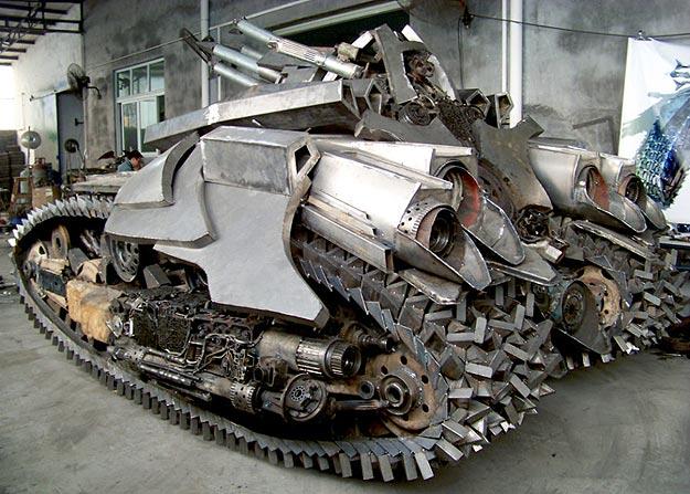 Transformers Inspired Megatron Tank Design