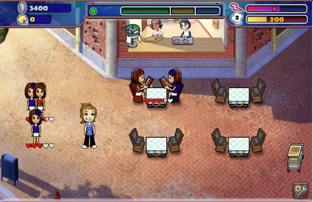Diner Dash Now FaceBook Game