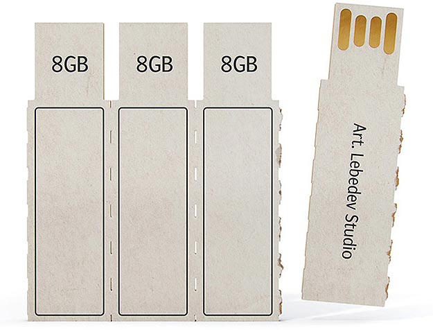 Eco-Friendly Technology: A Disposable Cardboard Flash Drive