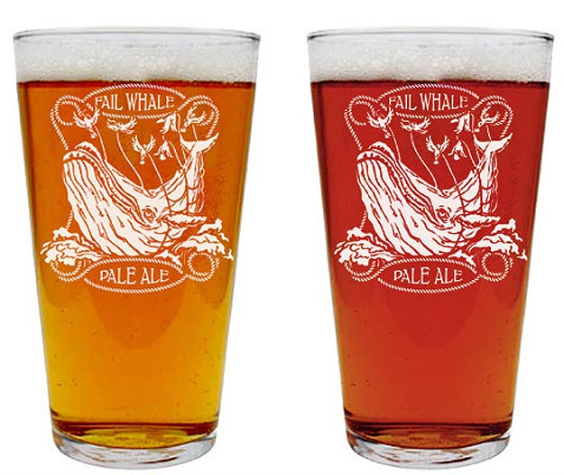 Twitter Inspired Pale Ale Glasses
