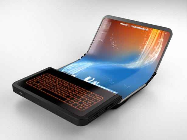 Flex Display Touch Keyboard Concept