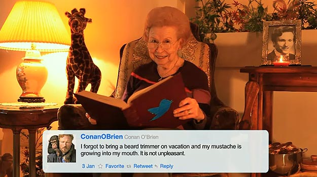 A Sweet Granny Reads Conan O'Brien's Tweets