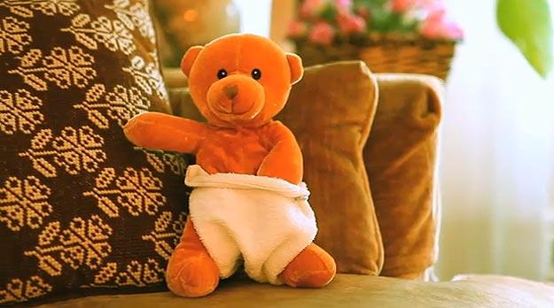 Teddy Bear Hand In Pants