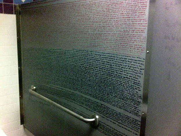 Harry Potter Written On A Bathroom Stall Wall
