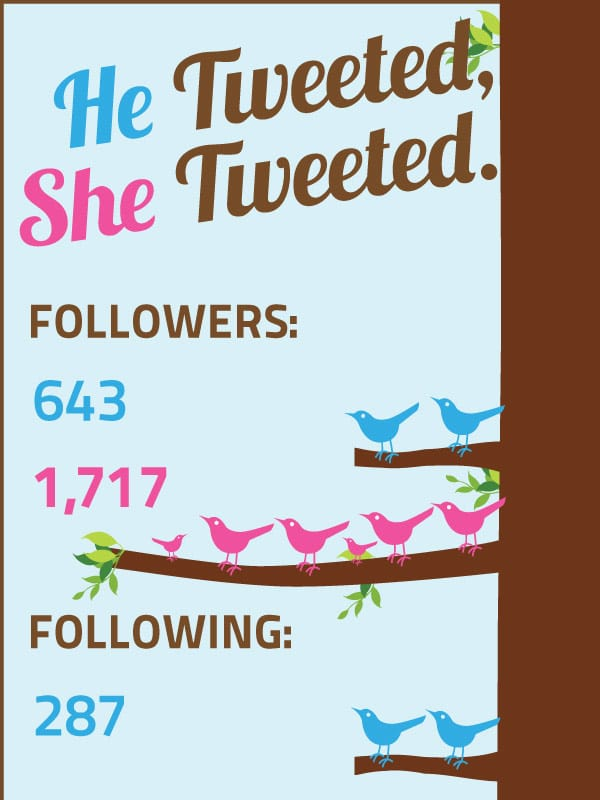The Gender Differences On Twitter In Data [Infographic]