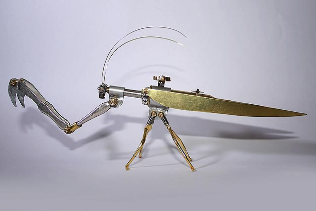 Steampunk Art Grasshopper Bug