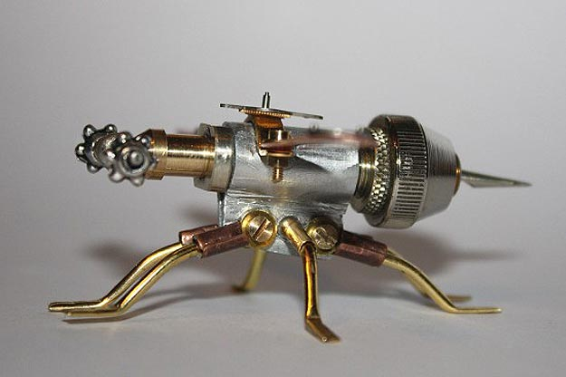 Brass Steampunk Praying Mantis
