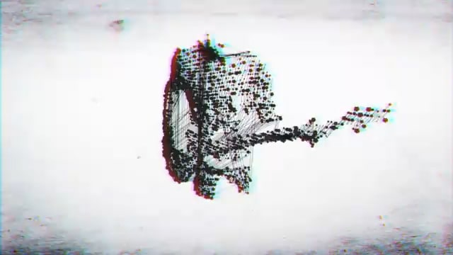 Dot Matrix Guitarist Kinect Hack