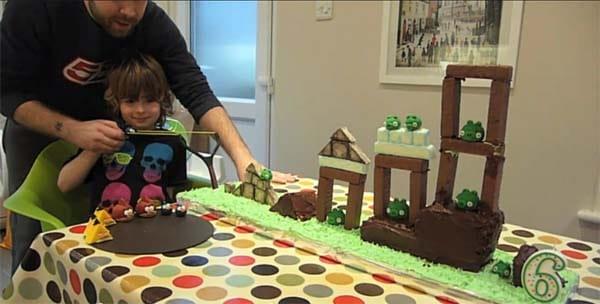 Edible Angry Birds Marzipan Cake