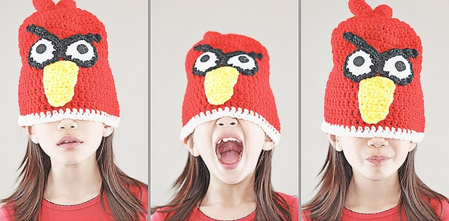 Angry Birds Knitted Hat Photography