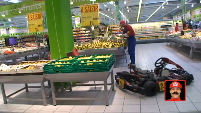 Kart Driven To Fruit Stand