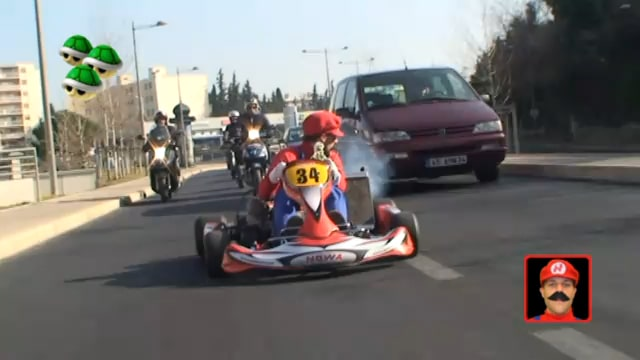 Kart Driven In Real Traffic