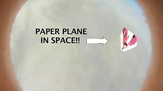 Paper Airplanes Fall From Space