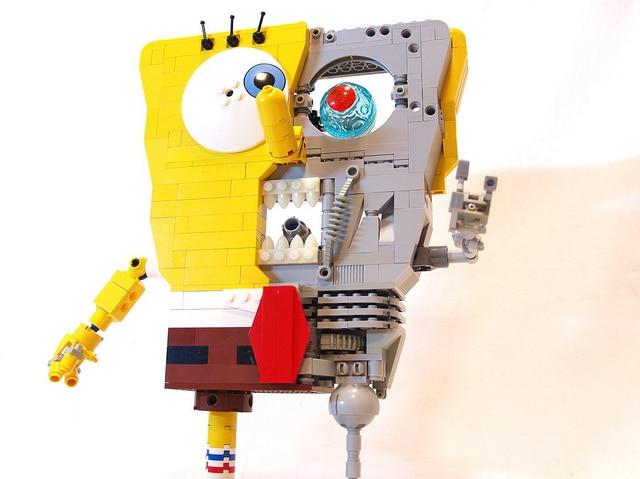 Build Sponge Bob Terminator Lego
