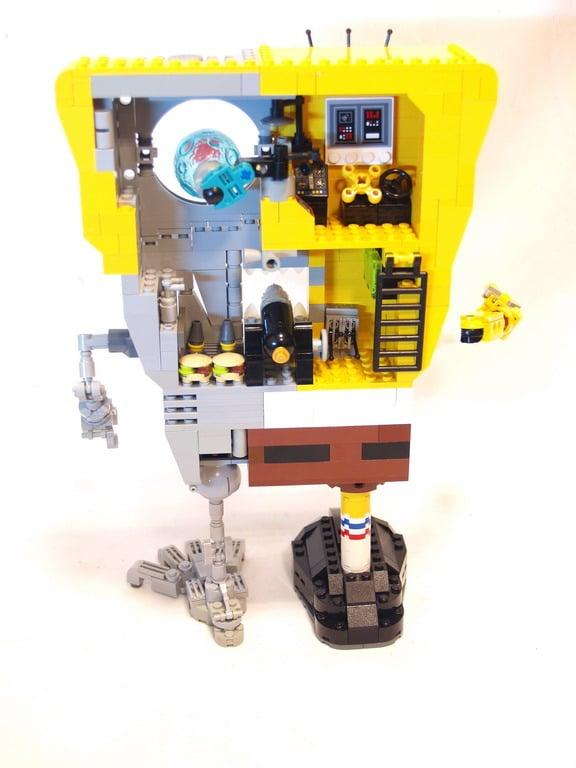 Back View Sponge Bob Terminator
