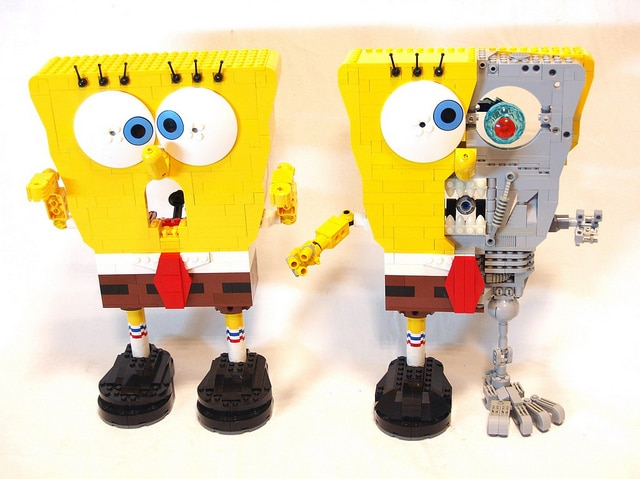 Dual Sponge Bob Lego Builds