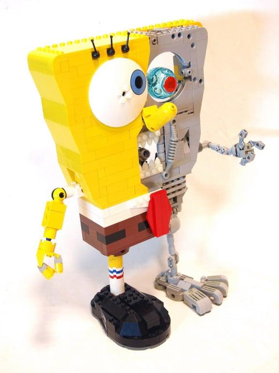 Side View Sponge Bob Terminator