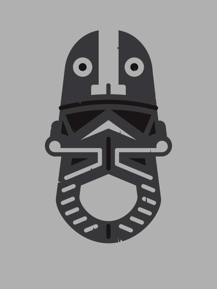 Tie Fighter Zulu Mask Design