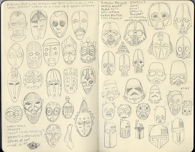 Star Wars Character Sketches Designs