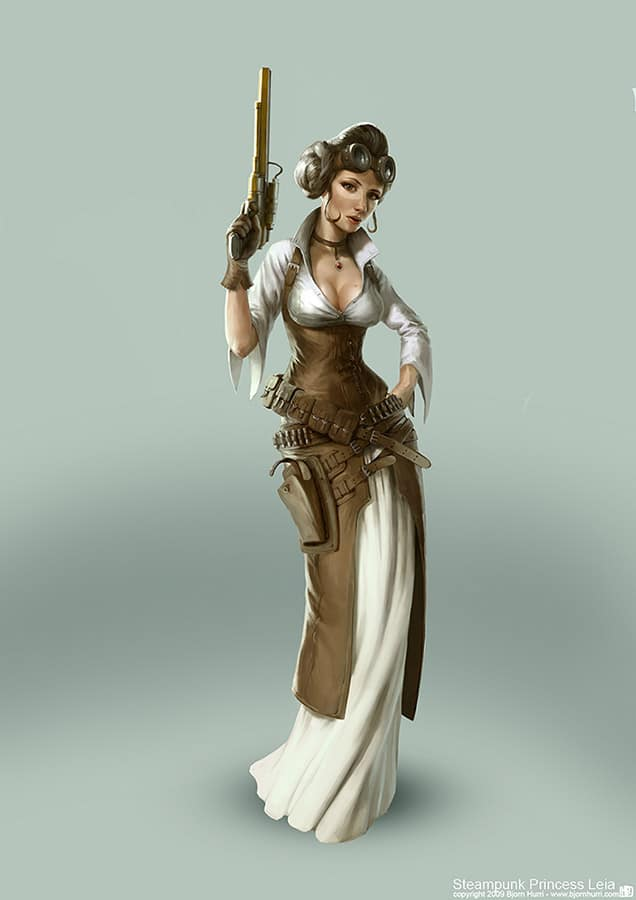 Princess Leia Steampunk Costume Drawing