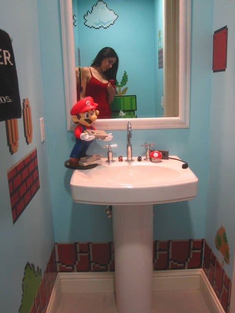 Super Mario Bathroom Sink View