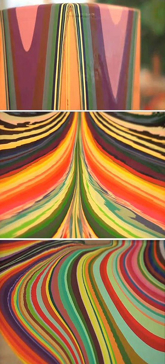 Design: The Drippy Hypnotic Effects of Tall Painting