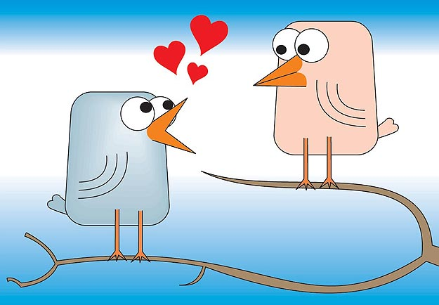 Use Facebook Twitter for Valentine's