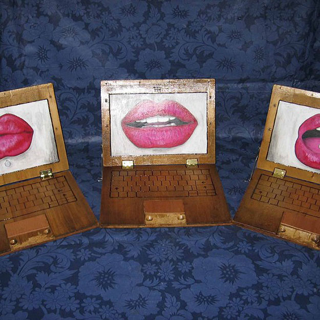 Recycled Wooden Laptop Creations