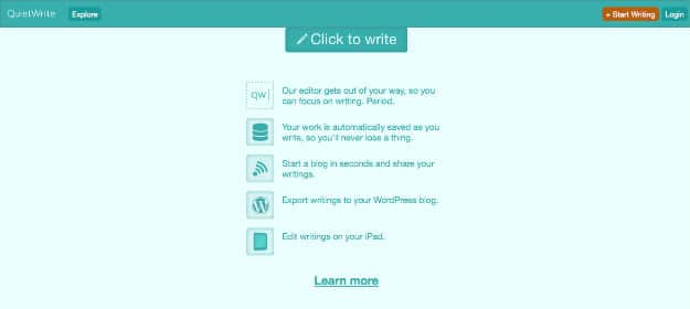 Write A Note Or Article Easily With QuietWrite