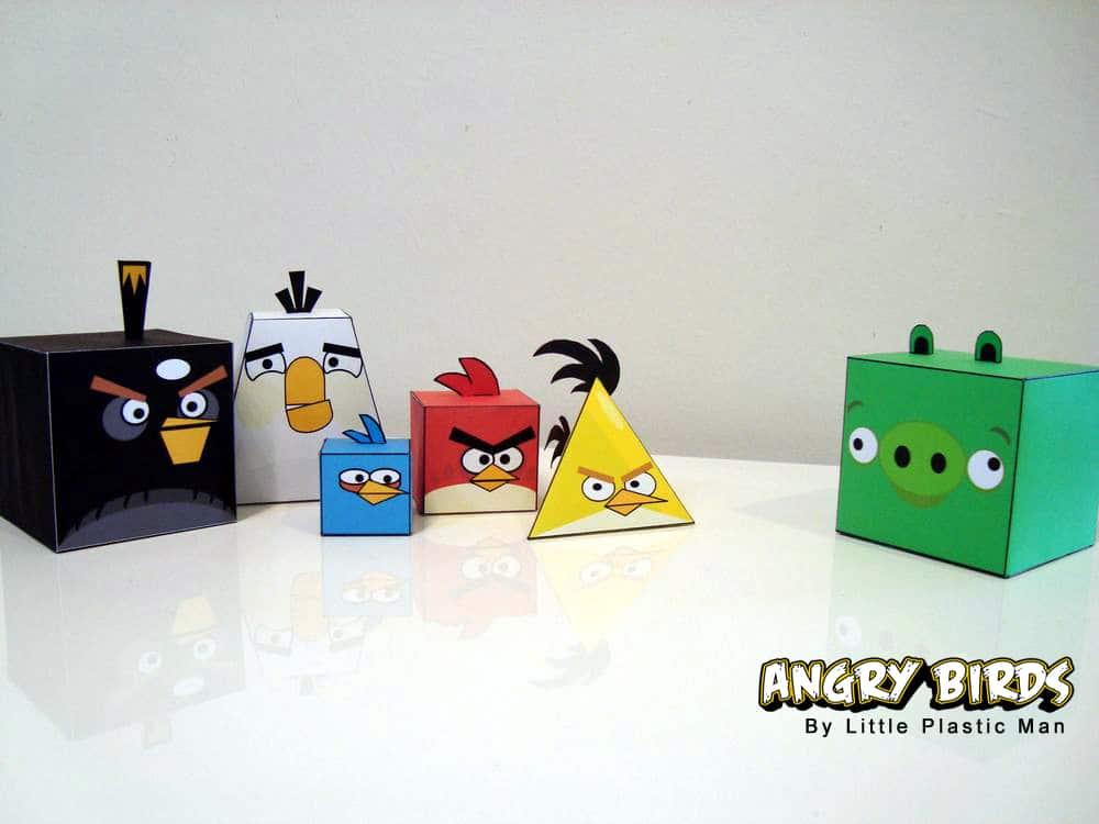Angry Birds Papercraft Figurine Design