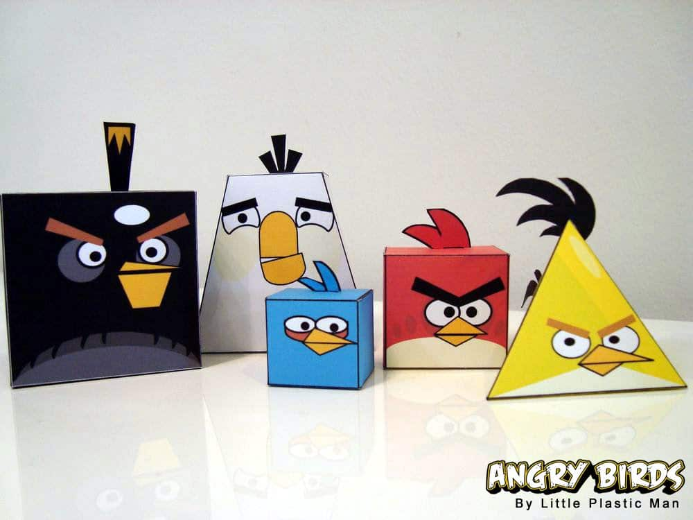 Angry Birds Papercraft Figurine Design