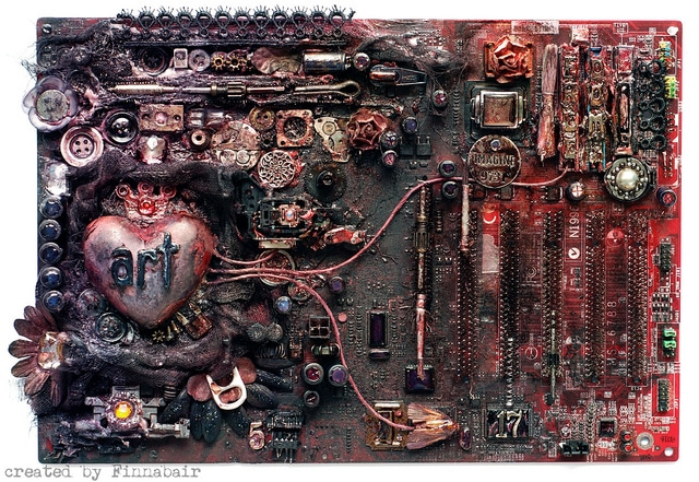 Pimped Out Computer Motherboard Art