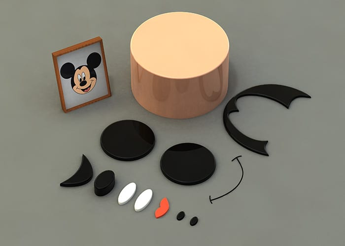 Parts Of Mickey Mouse Build
