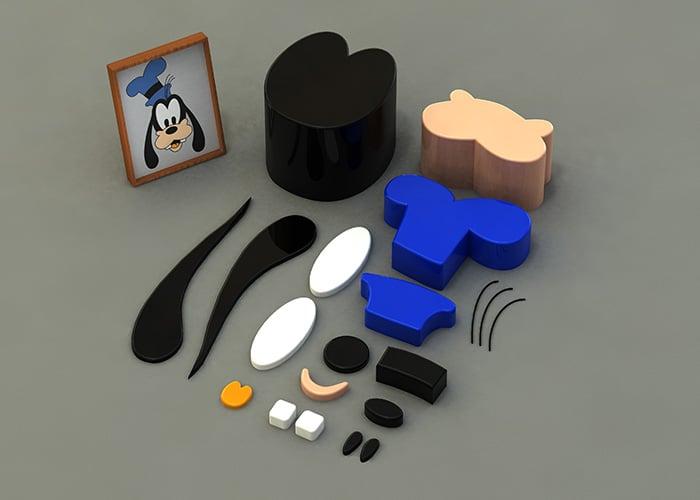 Parts Of Goofy 3D Build