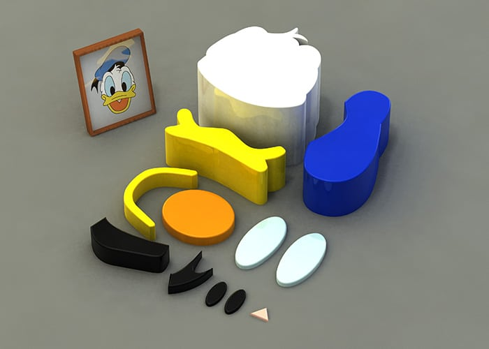 Parts Of Donald Duck Build