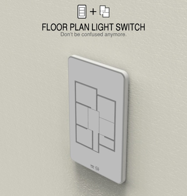 Central Control Light Switch Buttons