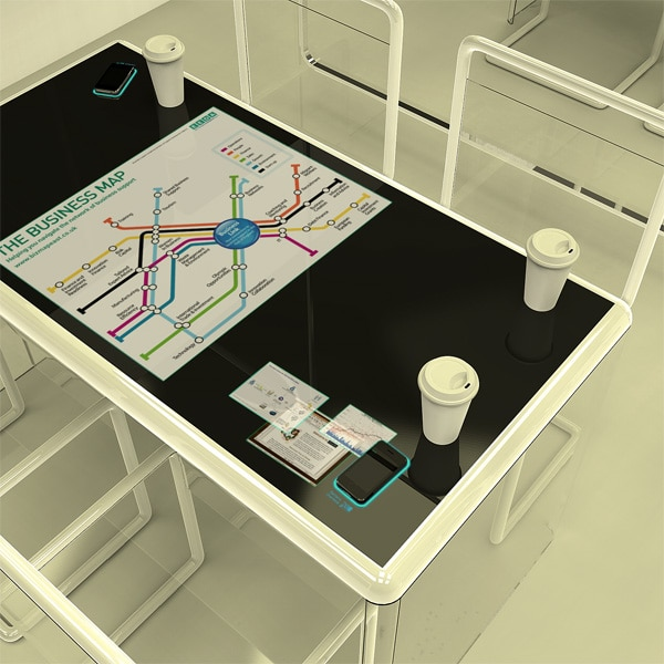 Transparent Privacy Internet Cafe Concept