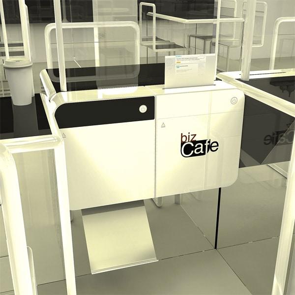 Transparent Privacy Internet Cafe Concept