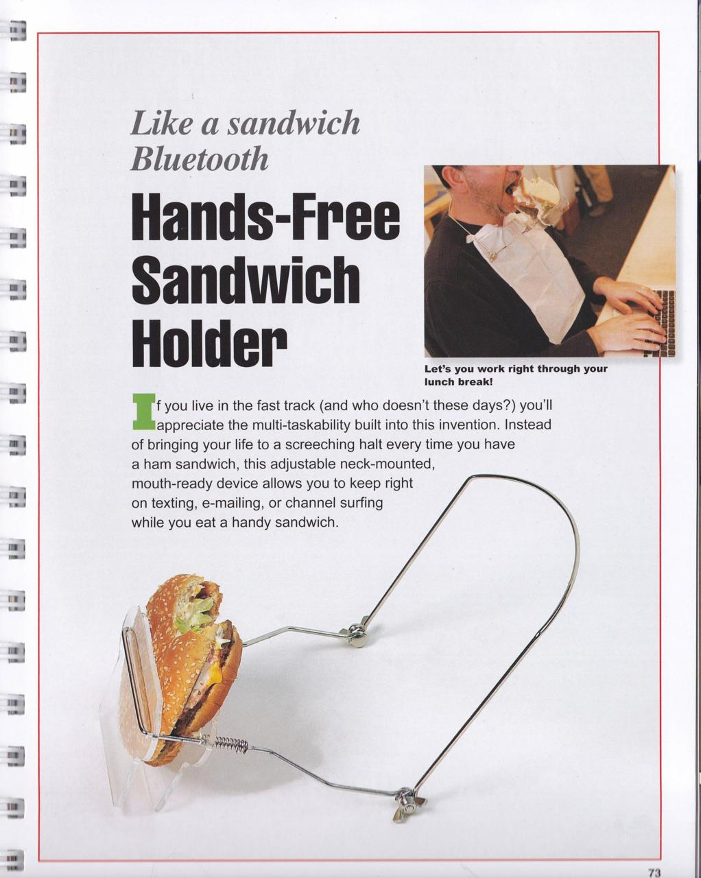 Hands-Free Sandwich Holder: When Working Is More Important