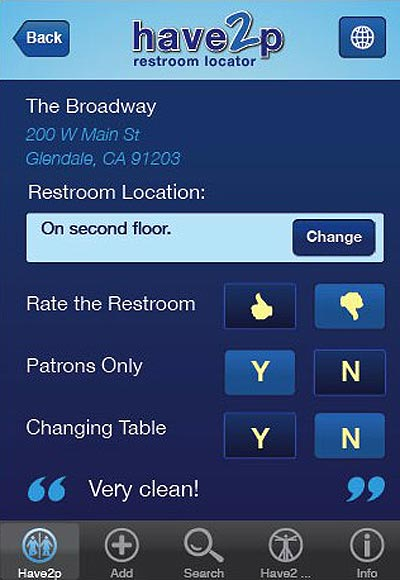 iPhone App Finds Public Bathrooms