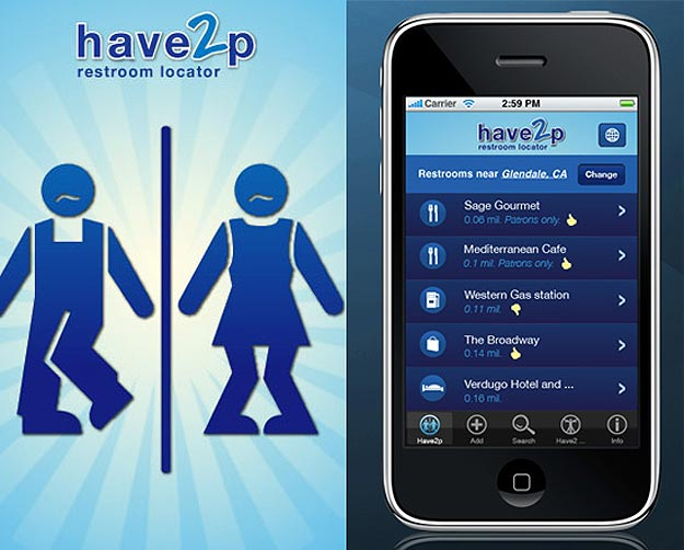 Have2P: iPhone App Makes Peeing More Convenient