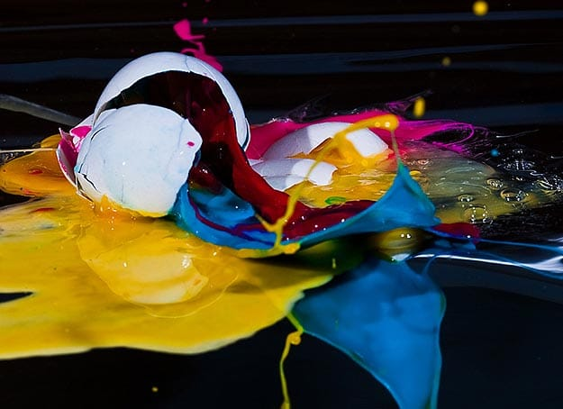 Visual Inspiration: Psychedelic Exploding Egg Photography