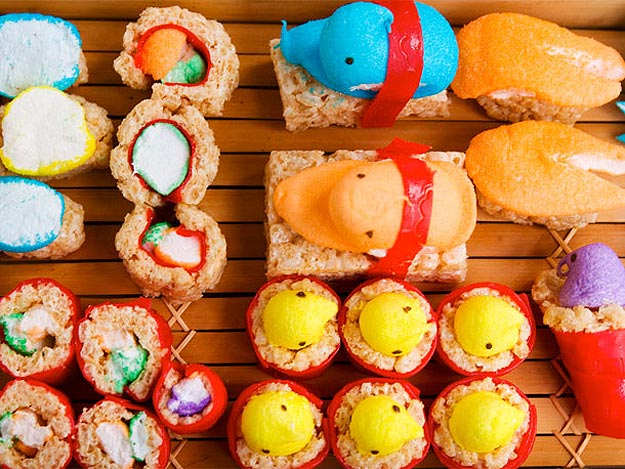 Spring Marshmallow Peep Sushi