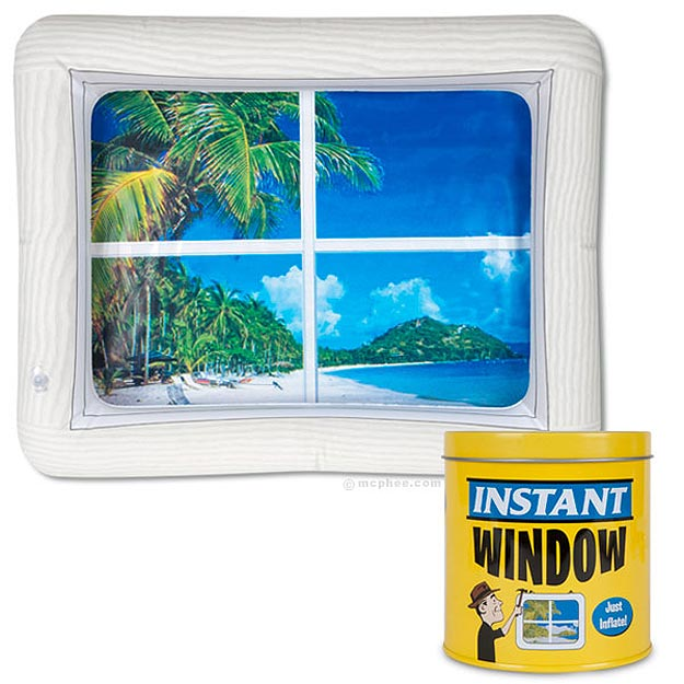 For Geeks & Workaholics: An Inflatable Window With A View