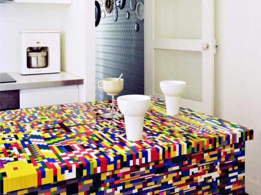 Geek Living: Lego Kitchen Counter For The Creative People